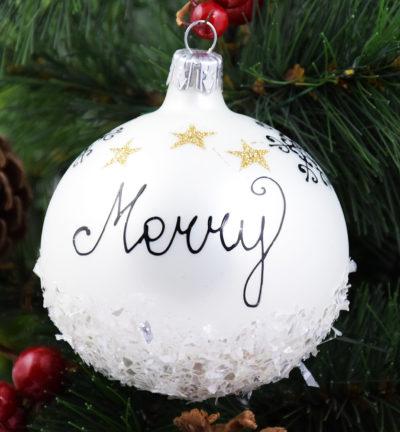 Merry & Bright. 8cm/6szt