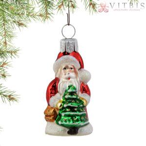 Mały Mikołaj z choinka. 1szt/6cm