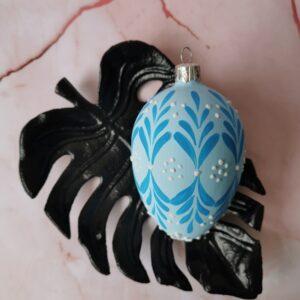 Jajko niebieskie 3: 8cm/1szt