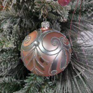 Srebrny ornament. 10cm/4szt