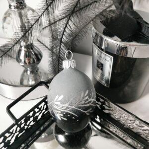Jajko srebrna gałązka. 6cm/1szt