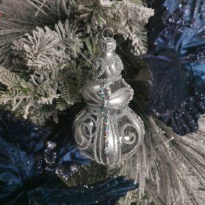 Berło ze srebrną dekoracją. 13cm/1szt