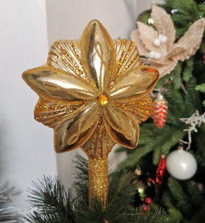 Gwiazda złota 20cm/1szt