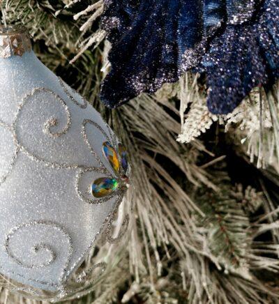 Owal błękitny śnieżny. 15cm/1szt