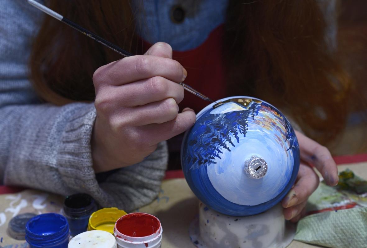 ręcznie malowane bombki