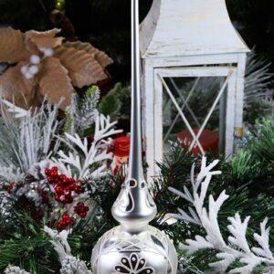Szpic srebrny dekorowany. 35cm/1szt